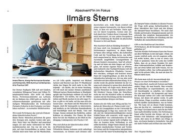 HKB-Zeitung, Juni 2021, Interview with Virginie Halter, Switzerland