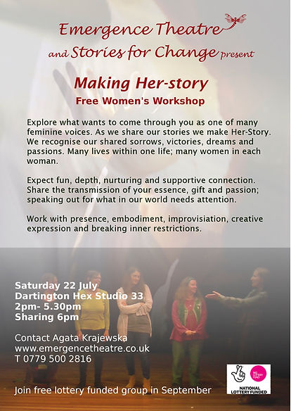 Poster for Making Her-story workshop