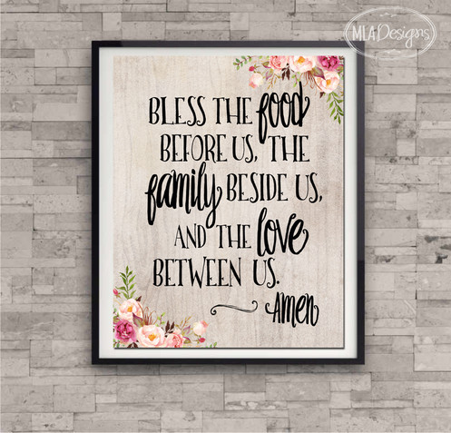 photograph about Bless the Food Before Us Printable known as Printable Artwork 8 x 10 - Bless the Foodstuff Right before Us