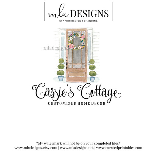 Mla Designs Premade Logos Watercolor Logos Graphics