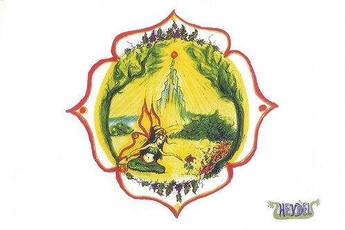"""Mandala """"La Fée de la Magie"""" - format poster"""