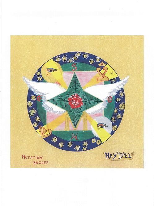"Mandala ""Mutation Sacrée"" - format poster"