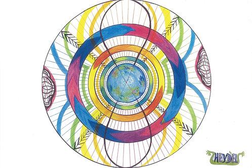 """Mandala """"Le Huit Cosmique"""" - format poster"""