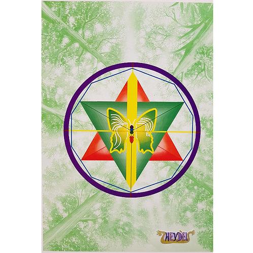"Mandala ""Plénitude Androgyne"" (fond vert) - format poster"
