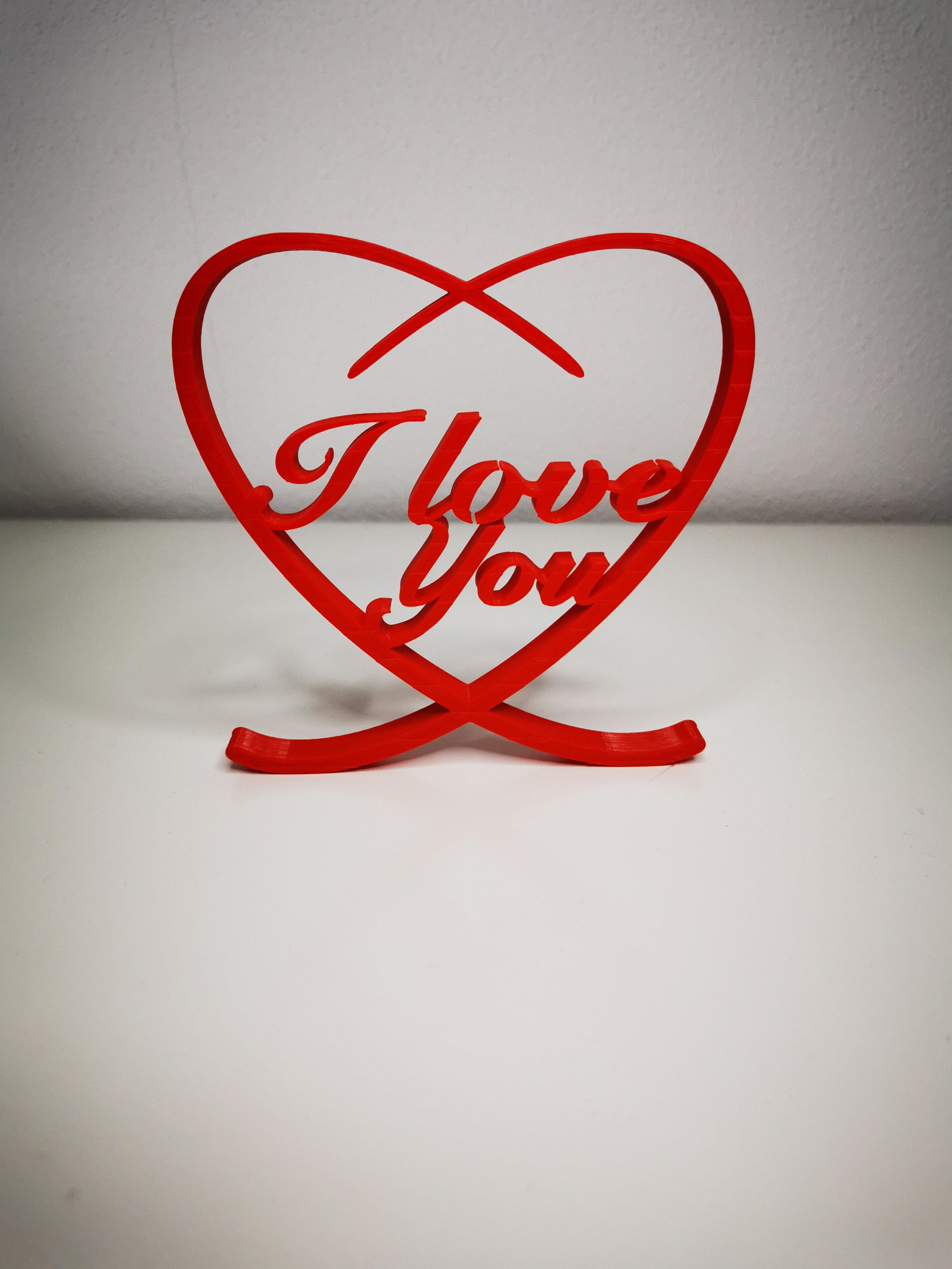 3D printed word Love