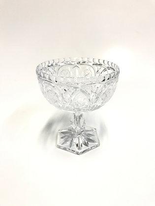 fruteira Vidro cristal C/ Pe Pequena