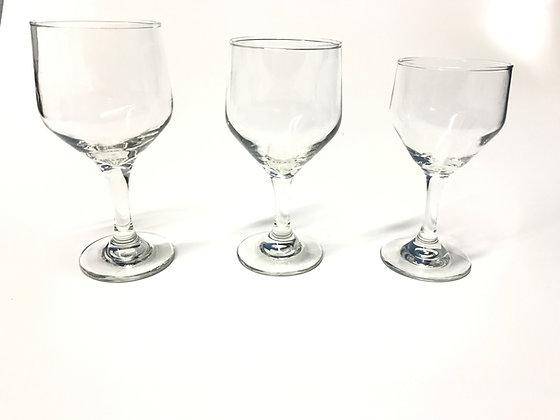 Taças Bistro Agua, Vinho Tinto E Branco