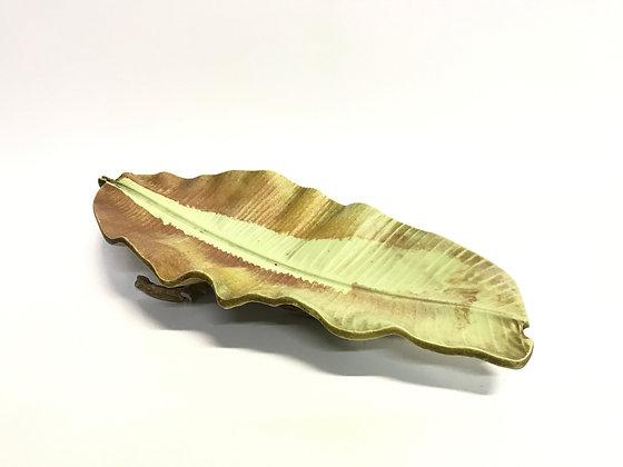 Travessa Folha Rustica Folha De Banana Pequena