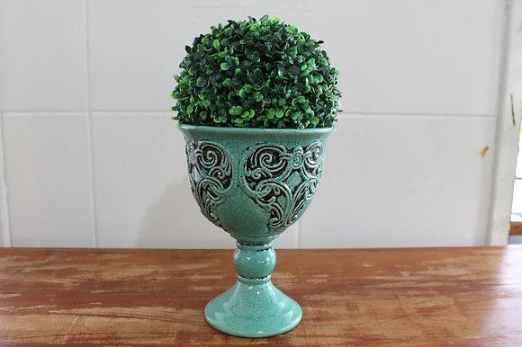Floreira Relicario Verde Com Pé