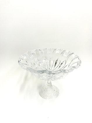Fruteira Vidro cristal C/ Pe grande