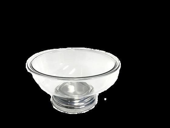 Saladeira Vidro C/ Pe Inox