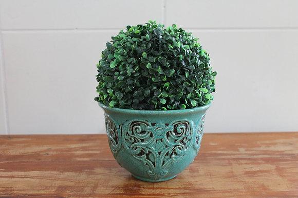 Floreira Relicario Verde Baixa
