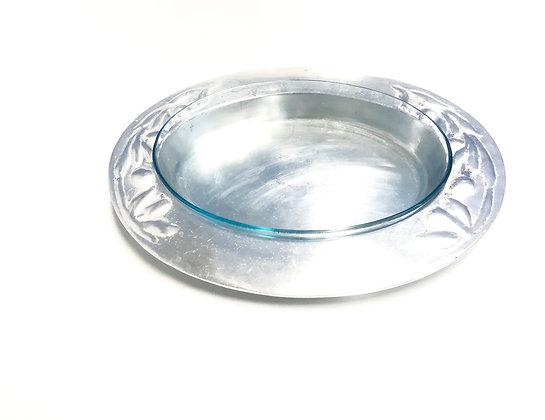 Porta Pirex Oval Alumínio