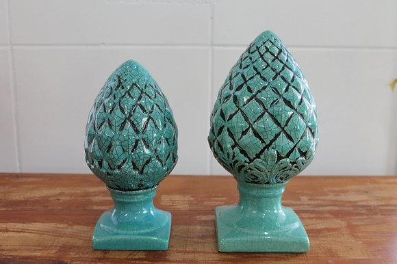 Pinha Ceramica Verde