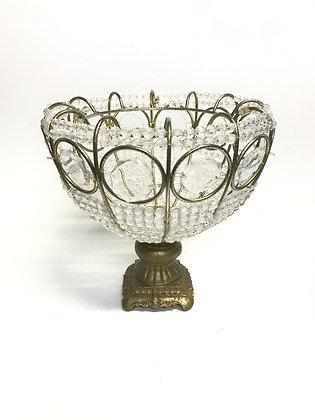 Doceira cristal Coroa Dourada C/Vidro 40 cm Media