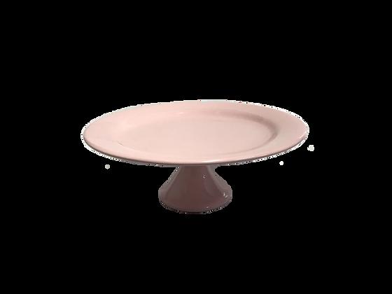 Prato C/Pe Ceramica Rosa