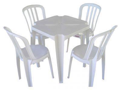 Conjunto Mesa Plástica Com Cadeira