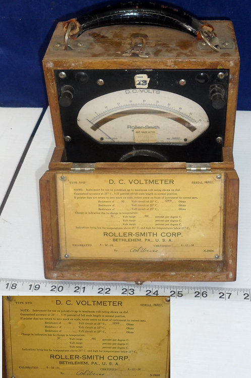 Roller-Smith Corp DC Voltmeter
