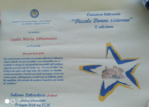 """Concorso letterario """"Piccole Donne scrivono"""" 2020 1^ premio Lydia Maria Abbamonte 5^B"""