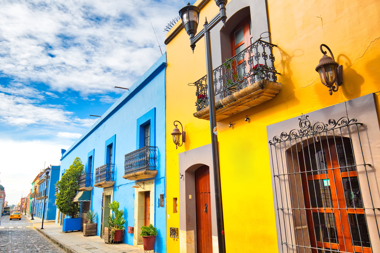 Oaxaca city, Scenic old city streets and