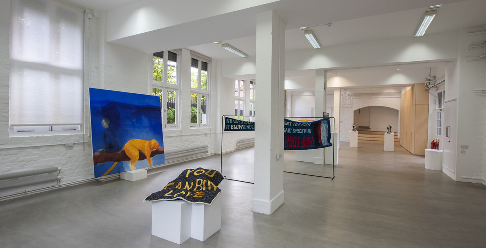 Works by Paolo Salvador, James Sirrell, and Rachel Cheung