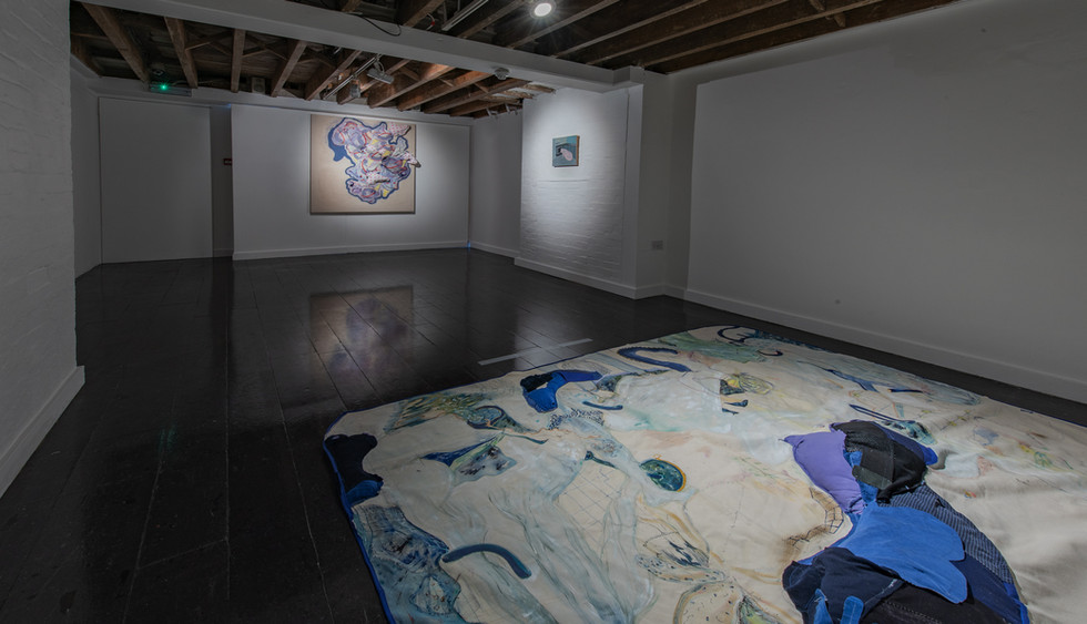 Works by Héloïse Delègue (Left & Right) and Phillip Reeves