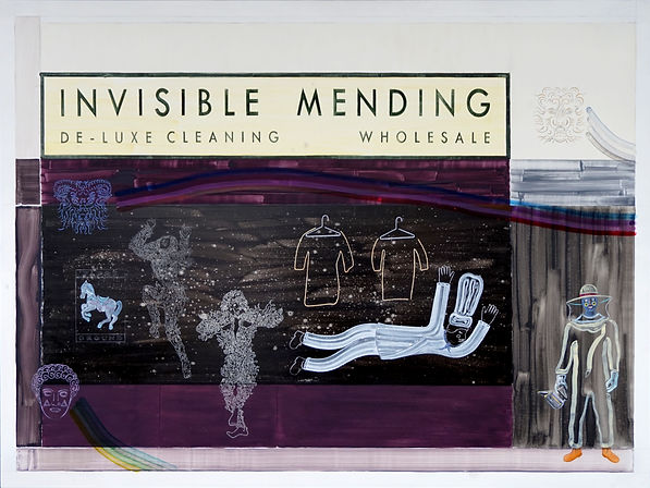Phillip Reeves, Invisible Mending, 2020 Oil on Aluminium Dibond 120 x 160cm