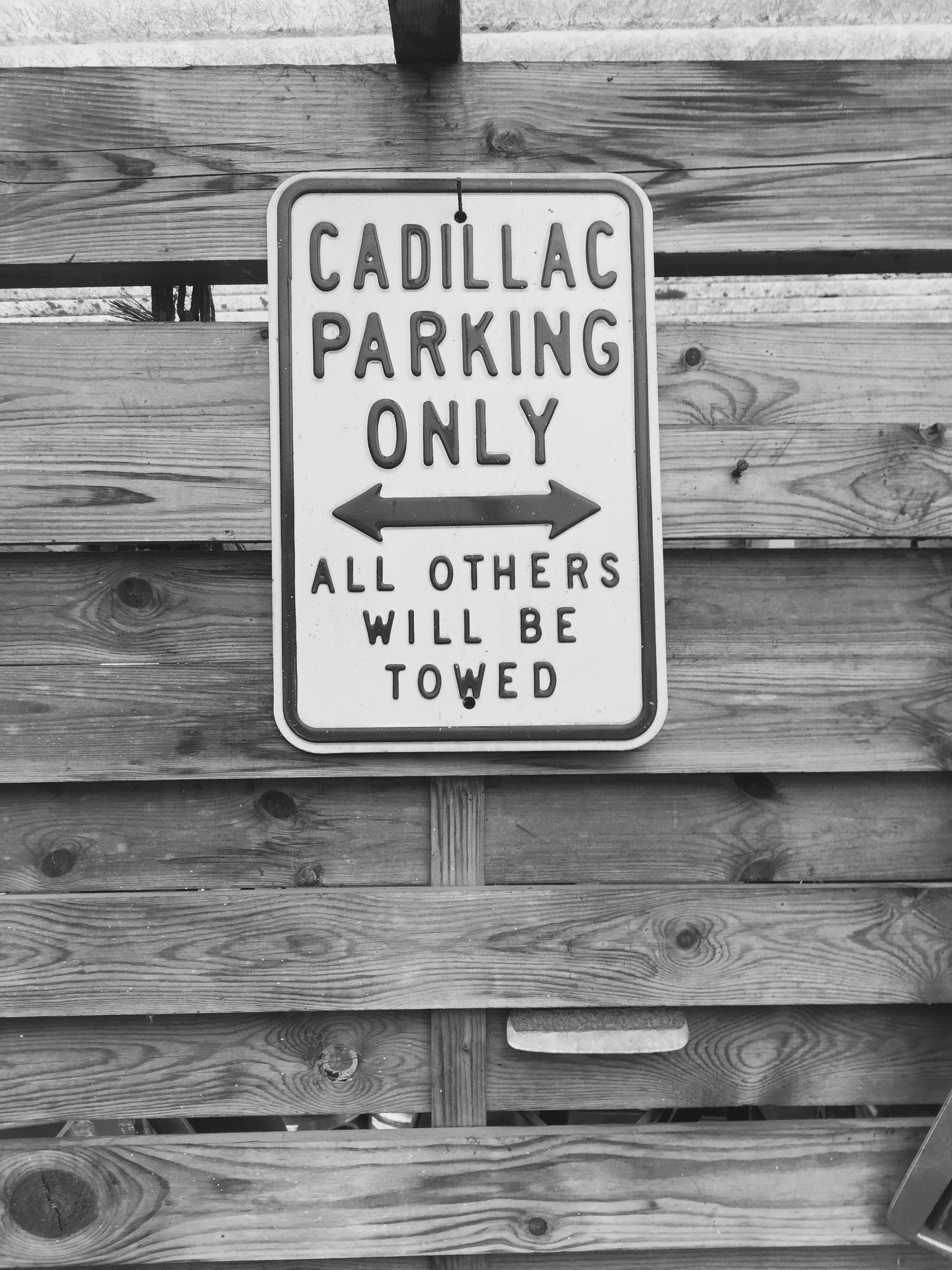 Cadillac Parking Only