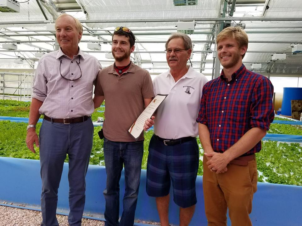 Maryland Comptroller Frachot Honors World's First Aquaponic MicroFARM in Washington County