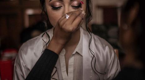 Real Bride Maya's Hair and Makeup at Hilton Hall, Hilton, UK & Wedding Blessing in Sarangpur, India