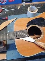 Martin fretboard removal