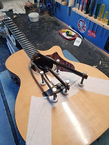 glue and clamp guitar soundboard brace
