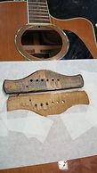 remove guitar bridge for regluing