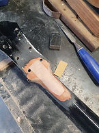 Epihone acoustic headstock repair with CNC