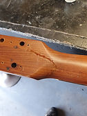 Gibson acoustic headstock crack repair