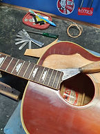 Fretboard removal Gibson J200 neck reset