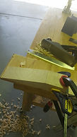 Acoustic guitar making neck scarf joint