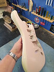 Strat refinish in Shell pink