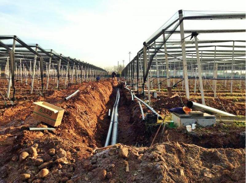 Installazione impianto a goccia