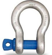 Alloy Bow Shackle Blue Screw Pin