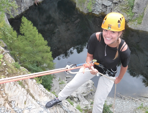 Abseiling from 100ft