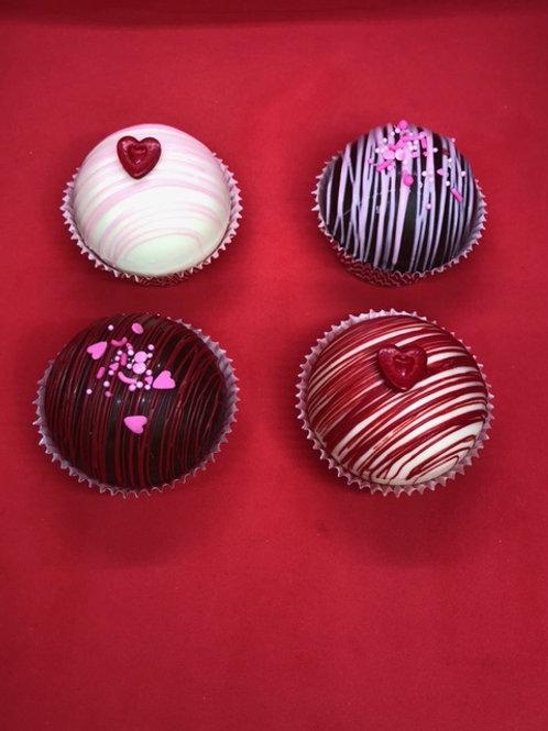 Valentine's Cocoa Bombs