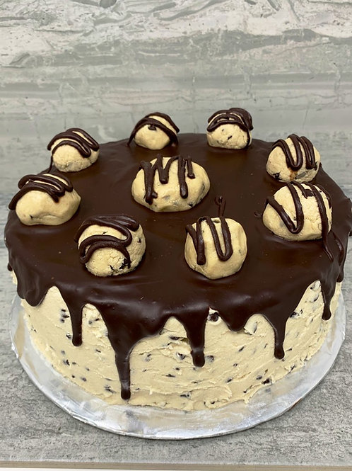 Cookie Dough Cake with Cookie Dough Frosting