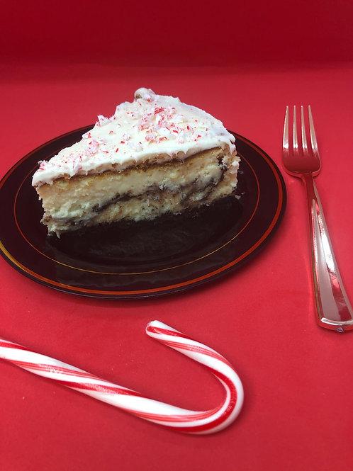 White Chocolate Peppermint Cheesecake