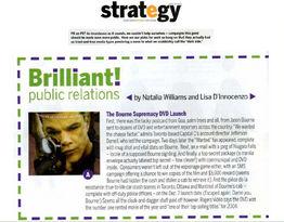Strategy Magazine: Brilliant Public Relations