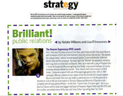Strategy Magazine: Brilliant Public Relations