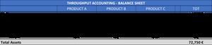 Throughput accounting - TA Company BS year 1