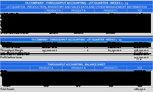 Throughput Accounting Profitability - Throughput Accounting Financial Statements Q1 - TA Company