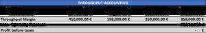 Throughput accounting - TA Company PL year 1