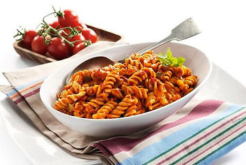 Spicy Tomato Pasta Salad Cooked fusilli
